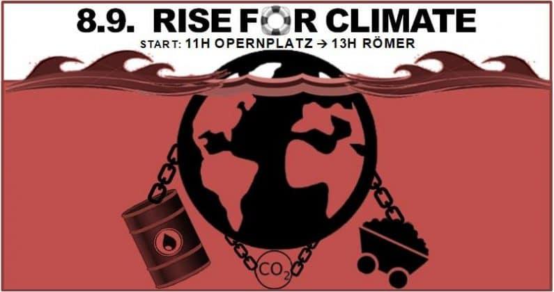 Rise for Climate – Aktionstag für mehr Klimaschutz – 08. September 2018
