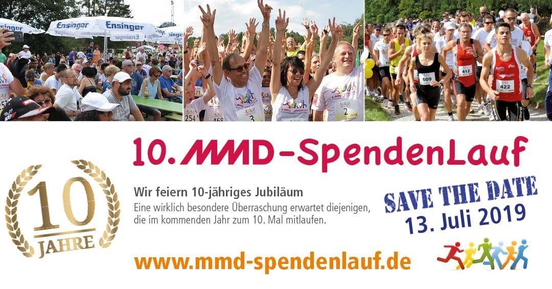Unser MMD Spendenlauf feiert 10-Jähriges! Seid dabei, wenn am 13. Juli 2019 wieder zahlreiche Läufer an den Start gehen, für die Elterninitiative Herzkranker Kinder e.V. Tübingen