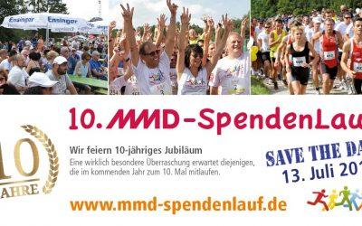 Unser MMD Spendenlauf feiert 10-Jähriges! Save the date: 13. Juli 2019 !