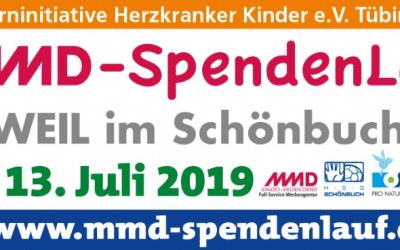 Unser MMD Spendenlauf feiert 10-Jähriges – bei Anmeldung bis 15. Mai 2019 gibt's wieder das MMD-Spendenlauf T-Shirt! Frühbucher zu sein, lohnt sich!