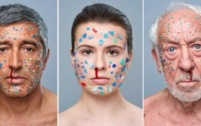 "Art Project ""In Your Face"" against microplastic in cosmetics and cleaning products"